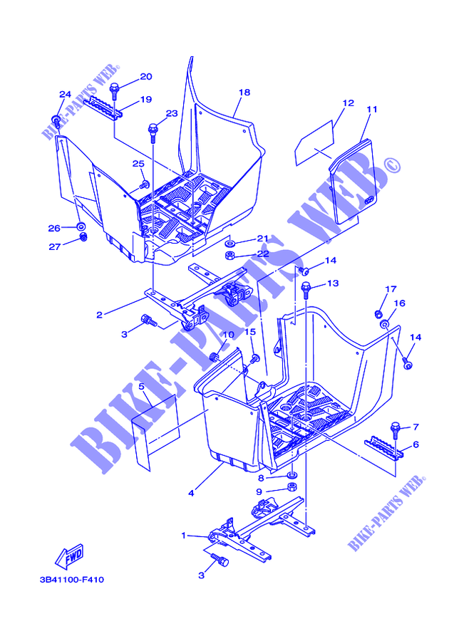 Yamaha Grizzly 700 Part Diagram