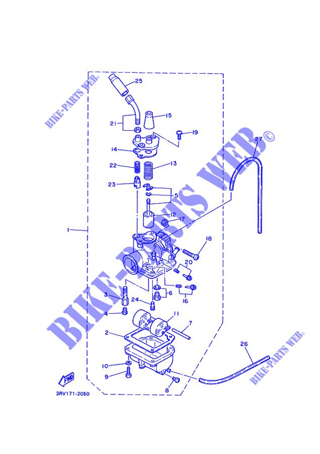 carburateur pw80 pw 1997 80 moto yamaha moto yamaha catalogue de pi ces d tach es d 39 origine. Black Bedroom Furniture Sets. Home Design Ideas
