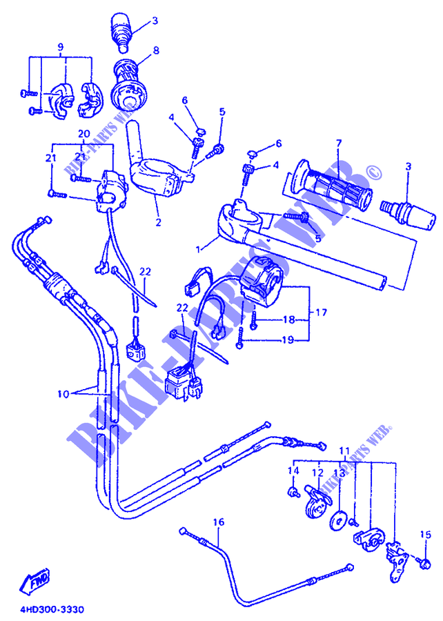 Yamaha MOTO 750 1994 YZF YZF750R YZF750RF YZF750 YZF750R YZF750RF YZF750  GUIDON ET CABLES 92c7e382f03