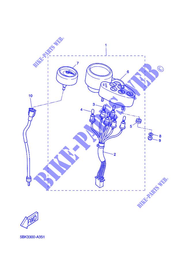 /Yamaha DT50/R MBK X Limite de feu arri/ère/ X