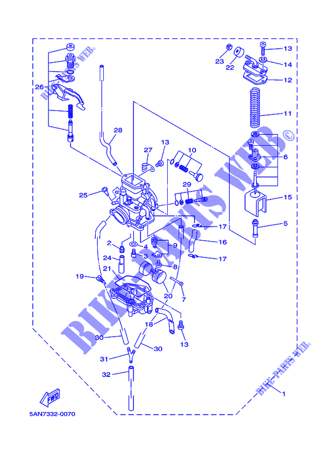 carburateur tdr125 tdr 010 yamaha moto tdr125 125 2002 all countries yamaha catalogue de pices. Black Bedroom Furniture Sets. Home Design Ideas