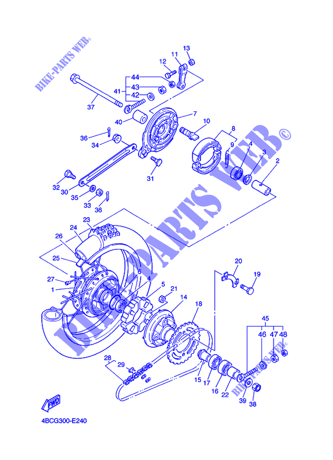 roue arriere pw80 pw 2010 80 moto yamaha moto yamaha catalogue de pi ces d tach es d 39 origine. Black Bedroom Furniture Sets. Home Design Ideas