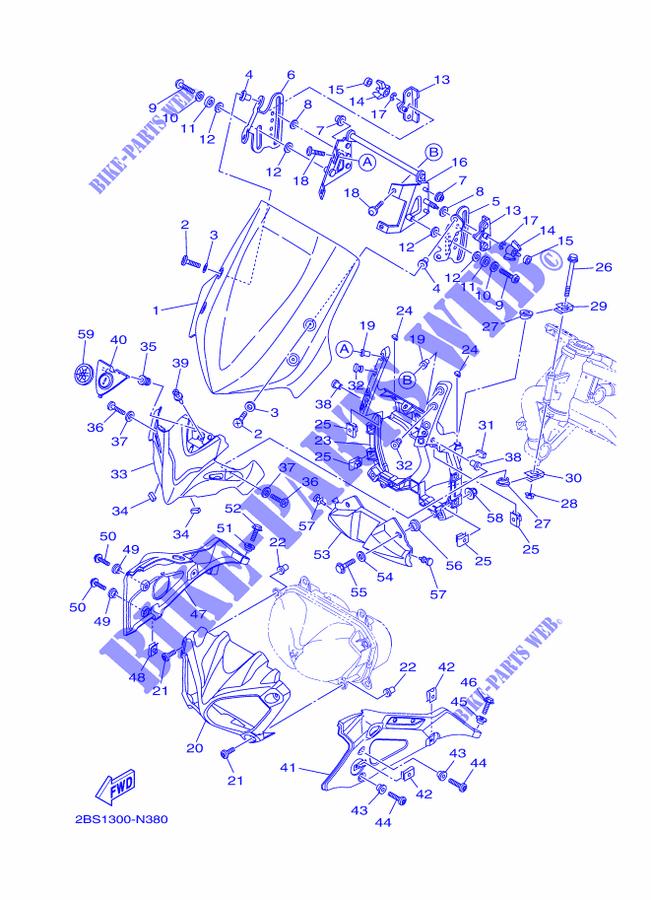 Réglage bulle origine XT1200ZE PARE-BRISE-Yamaha-MOTO-1200-2014-XTZ-SUPER-TENERE-XT1200ZE-2BS1300-N380