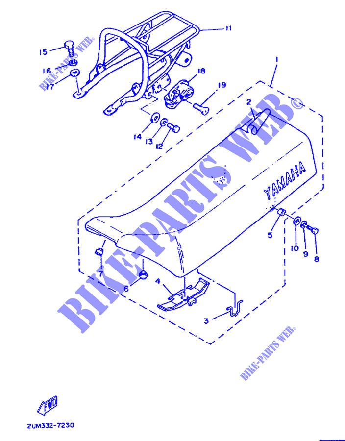 selle porte bagages dt50m dt 1987 50 moto yamaha moto. Black Bedroom Furniture Sets. Home Design Ideas