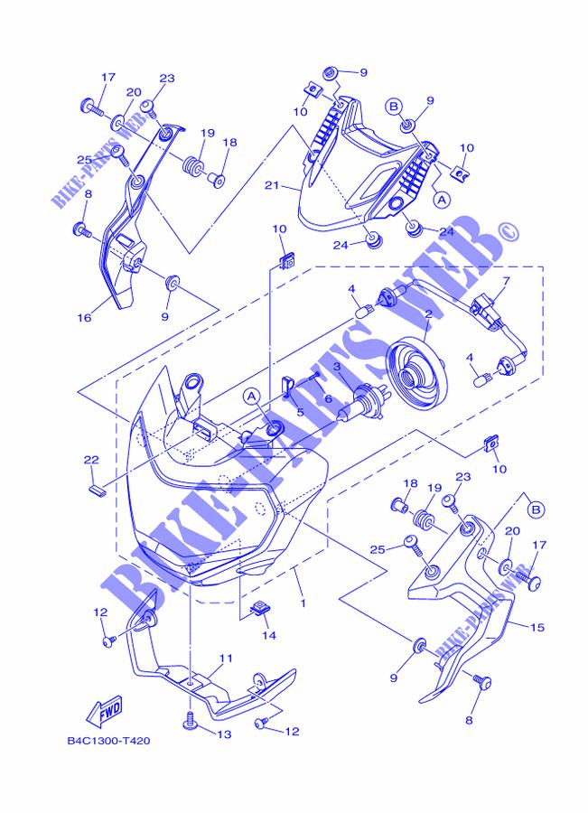 Demande d'info: Origine du phare MT-09 PHARE-Yamaha-MOTO-700-2018-MT-MTN690-A-B4C1300-T420