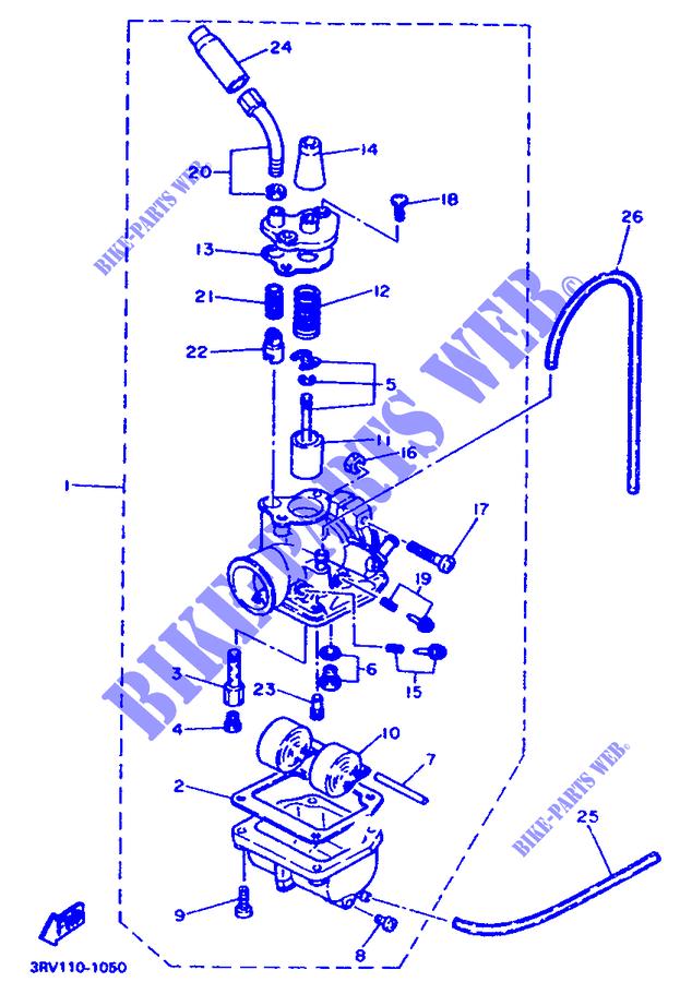 carburateur pw80 pw 999 yamaha moto pw80 80 1991 france yamaha catalogue de pices dtaches d. Black Bedroom Furniture Sets. Home Design Ideas
