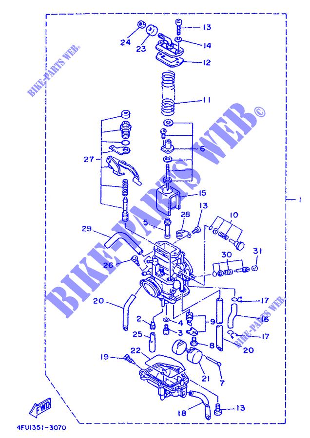 carburateur tdr125 tdr 1993 125 moto yamaha moto yamaha catalogue de pi ces d tach es d 39 origine. Black Bedroom Furniture Sets. Home Design Ideas