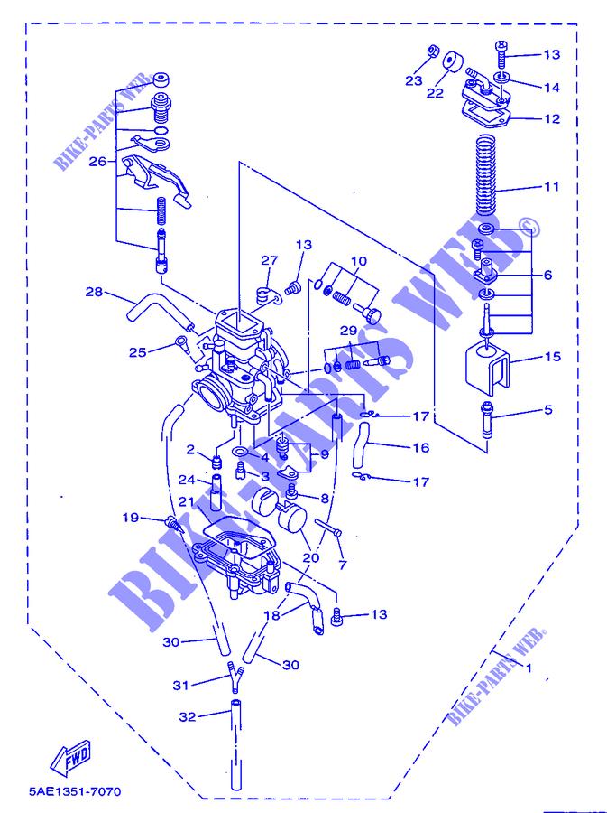 carburateur tdr125 tdr 1999 125 moto yamaha moto yamaha catalogue de pi ces d tach es d 39 origine. Black Bedroom Furniture Sets. Home Design Ideas