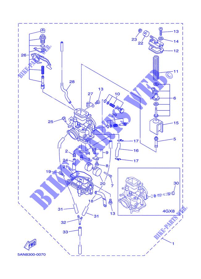 carburateur tdr125 tdr 2000 125 moto yamaha moto yamaha catalogue de pi ces d tach es d 39 origine. Black Bedroom Furniture Sets. Home Design Ideas