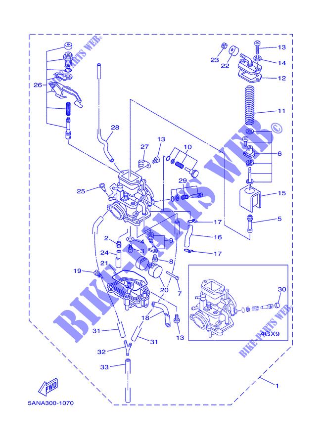 carburateur tdr 060 yamaha moto tdr125 125 2001 greece pices dtaches d 39 origine yamaha. Black Bedroom Furniture Sets. Home Design Ideas