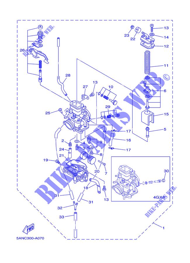 carburateur tdr125 tdr 020 yamaha moto tdr125 125 2002 austria pices dtaches d 39 origine yamaha. Black Bedroom Furniture Sets. Home Design Ideas