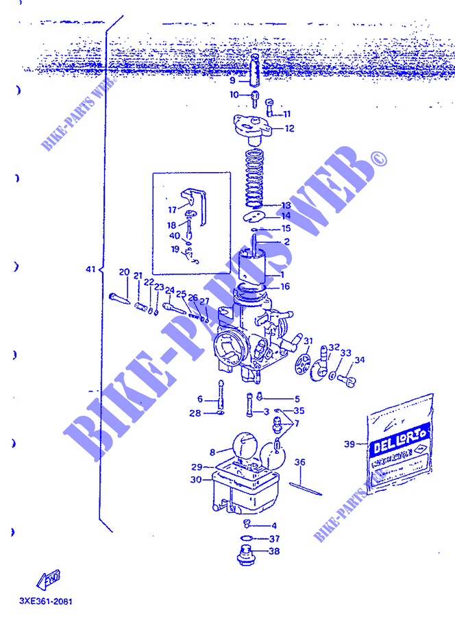 carburateur tdr 999 yamaha moto tdr125r 125 1992 switzerland pices dtaches d 39 origine yamaha. Black Bedroom Furniture Sets. Home Design Ideas